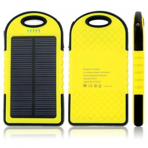 Зарядное средство на солнечных батареях Power Bank  12000 mah