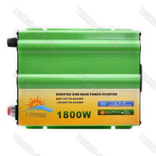Автомобильный инвертор 12V 1800W