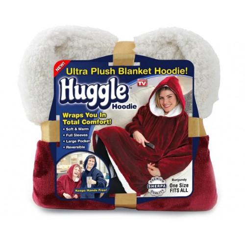 Плед-толстовка с капюшоном Huggle Hoodie оптом