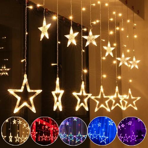 Гирлянды звезды LED (8 режимов) оптом