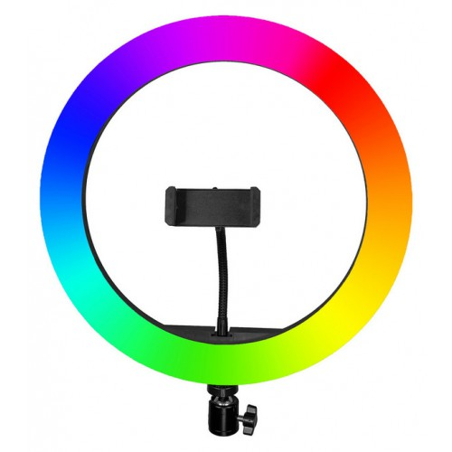 Светодиодная кольцевая цветная RGB лампа 33 см оптом