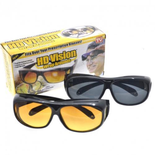 Антибликовые очки для вождения HD Vision 2 пары оптом