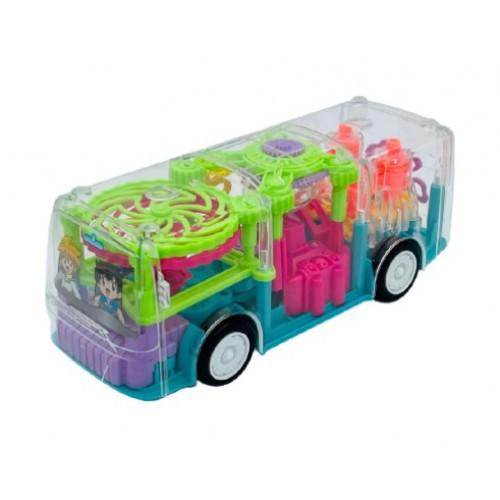 Прозрачный автобус с шестеренками GEAR LIGHT BUS оптом
