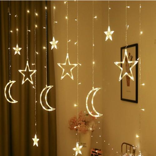 Гирлянда-штора звезды и луны 3*1м оптом