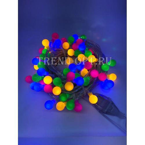 Гирлянда-шарики мал.  светодиодная, мультицвет  100 LED (10 м)