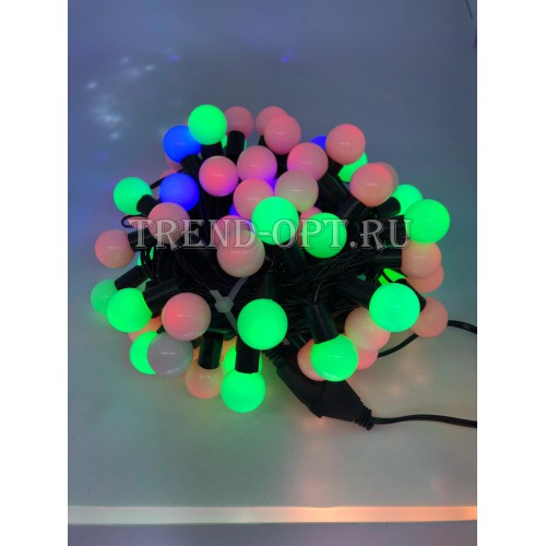 Гирлянда-шарики бол. светодиодная, мультицвет 100 LED (10 м)
