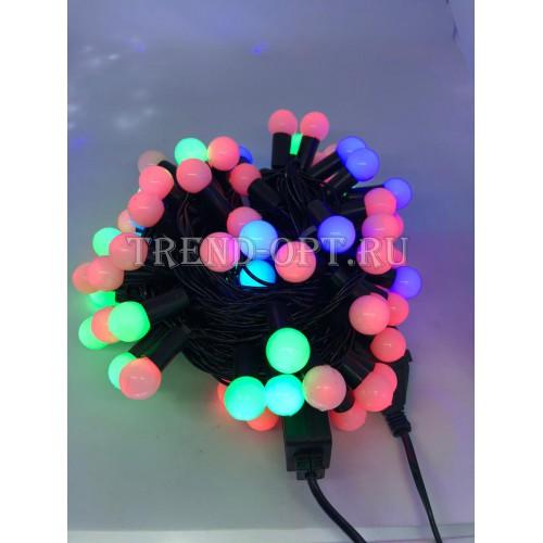 Гирлянда-шарики сред. светодиодная,  мультицвет  100 LED (10 м )