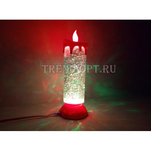 Ночник свеча светодиодная с блестками