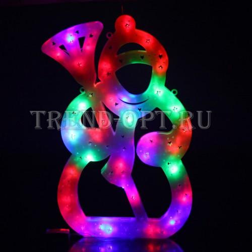 Фигура новогодняя Снеговик LED