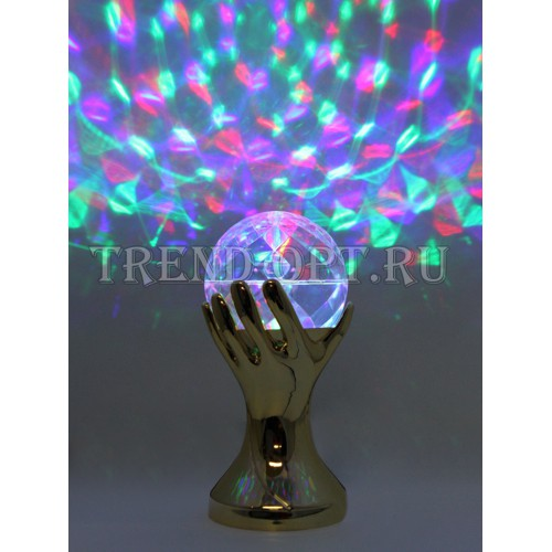 Новогодний светильник Рука с шаром