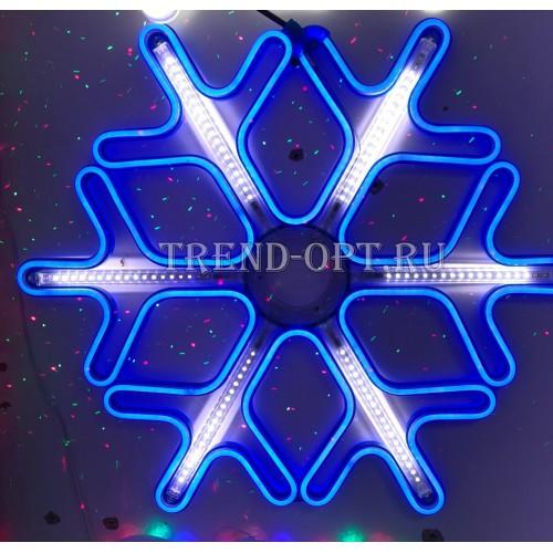 Светодиодная снежинка 60 см