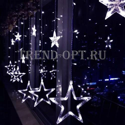 Гирлянда шторы Звезды 3*3 м