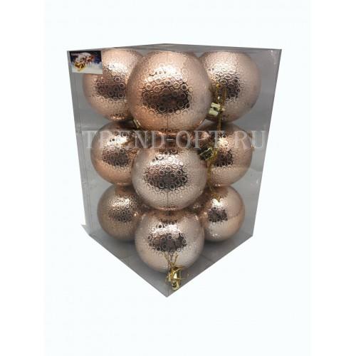 Набор новогодних подвесных украшений Мерцание диаметр 6 см, 12 шт