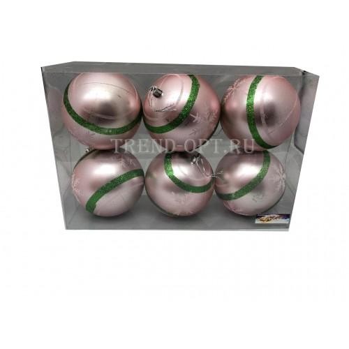 Набор новогодних подвесных украшений Ленточка диаметр 10 см, 6 шт