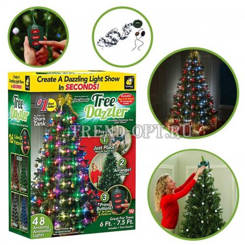 Гирлянда на елку Tree Dazzler Ring 48 дет.