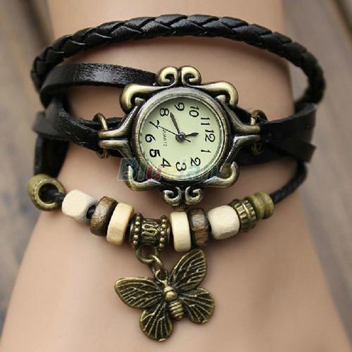 Женские винтажные часы на кожаном ремне Оптом
