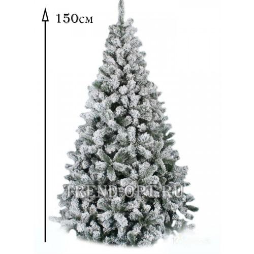 Заснеженная елка Снегурочка 150см