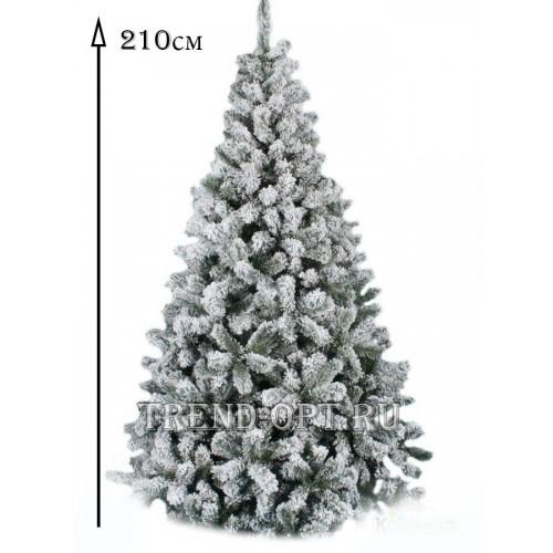 Заснеженная елка Снегурочка 210 см