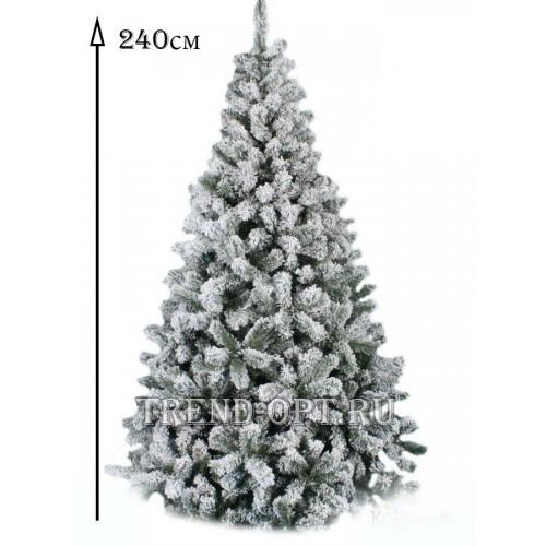 Заснеженная елка Снегурочка 240 см