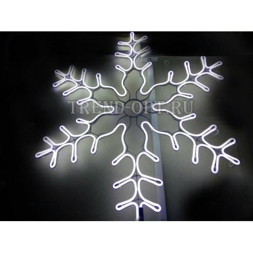 Фигура Снежинка белая большая, с контроллером, диаметр 60 см