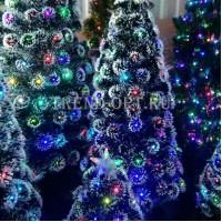 Искусственная елка со светящимися шариками 120 см
