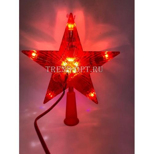 Фигура Звезда Красная ёлочная 16Х16