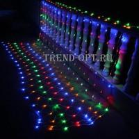 Светодиодная новогодняя гирлянда сетка LED 240 шт. 2*2 м