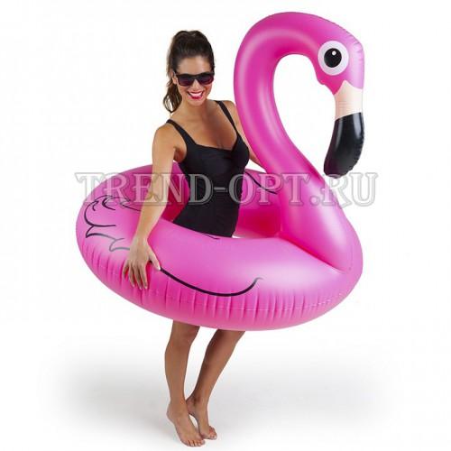 Надувной круг фламинго розовый Pink Flamingo 120см.