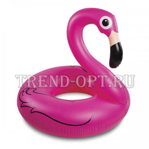 Надувной круг фламинго розовый Pink Flamingo