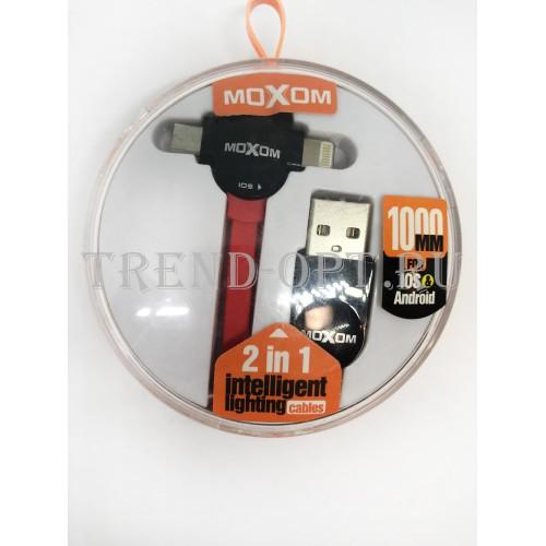 Кабель USB, Moxom 2in1 iOS , micro