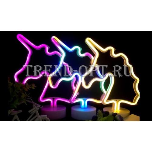 Неоновый светильник Единорог
