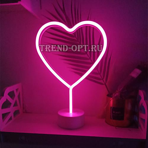 Неоновый светильник Сердце