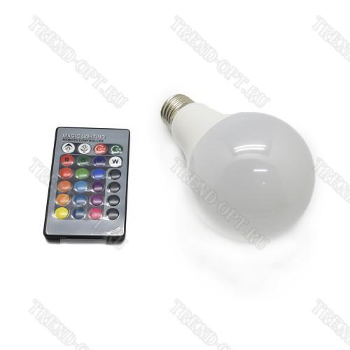 Светодиодная RGB лампа с пультом управления A80