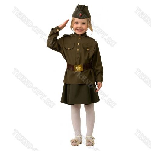 Детский военный костюм для девочки