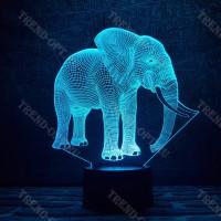 3D Светильник Слон