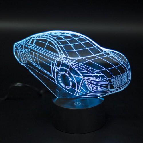 3D светильник Машина
