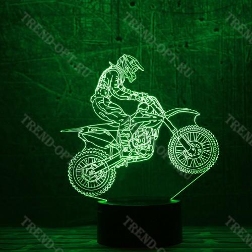 3D светильник Мотоциклист
