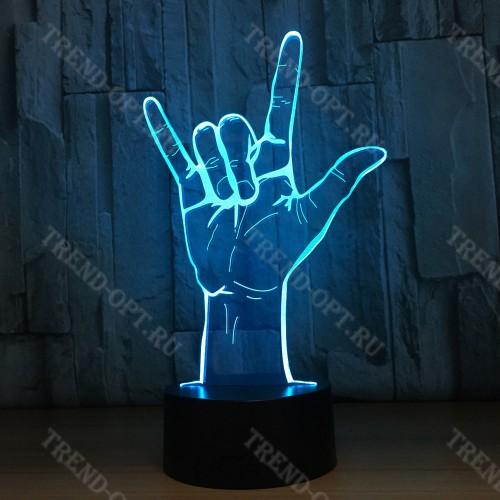3D светильник Рок