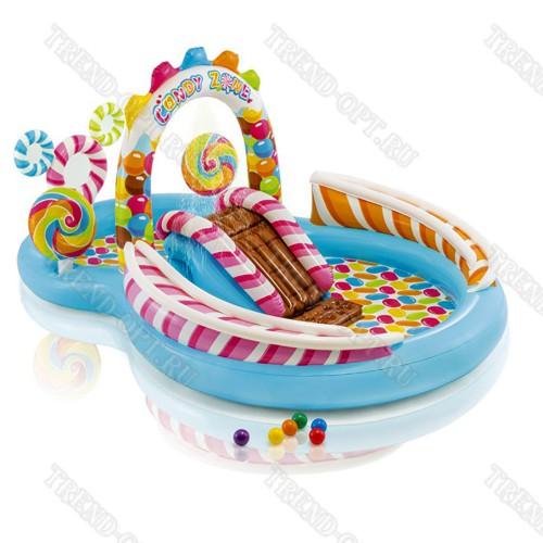 Надувной комплекс для детей с бассейном 101589
