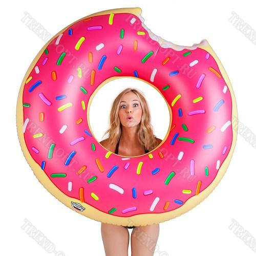 Надувной круг пончик 100см