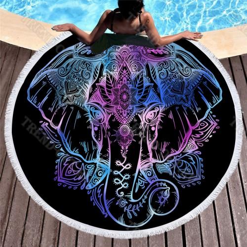 Покрывало для пляжа Богемный Слон