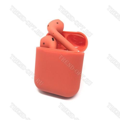 Беспроводные наушники i12 TWS красные