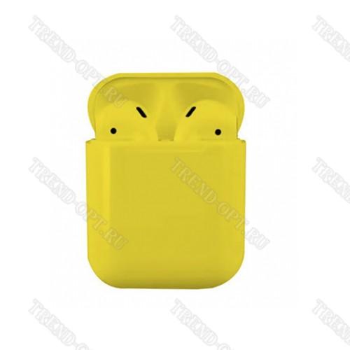 Беспроводные наушники TWS I9S желтые
