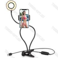 Селфи-лампа на штативе с держателем для телефона