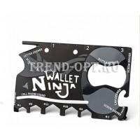 Мультитул Wallet Ninja - 18 инструментов