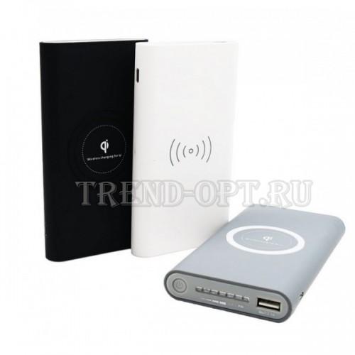Беспроводное внешнее зарядное устройство Qi Powerbank Wireless