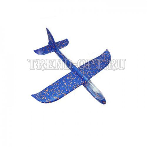 Детский планирующий светящийся  самолетик 48см